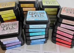 One Lucky Day: Distress Ink Labels http://www.2gypsygirls.com/2012/09/distress-ink-labels.html