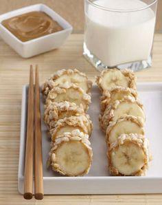 Banana-Rice Krispy Sushi.