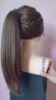 Bun Hairstyles For Long Hair, Braids For Long Hair, Girl Hairstyles, Braided Hairstyles, Fast Hairstyles, Front Hair Styles, Medium Hair Styles, Hair Style Vedio, Hair Videos