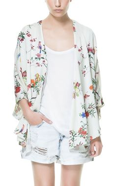 Put down that blazer and try a kimono style cardigan!