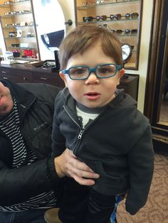 22c2619e4f How awesome are teal glasses on this little boy! Miraflex rubber frames