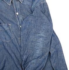 Denim Button Up, Button Up Shirts, Chambray, Mens Fashion, Jeans, Tops, Style, Moda Masculina, Swag