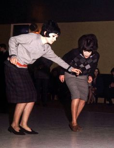 MOD GIRLS Dancing - 1964 at Youth Dance Hall.