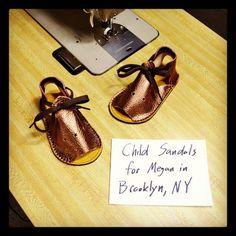 Child Sandals in Shiny Bronze and Burgundy! #designyourown #kids #sandals