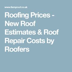 Printable roofing estimate sheet roofing forms for Handyman cost estimator software