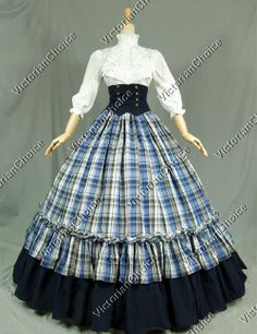 Victorian Civil War Period Dress Ball Gown Reenactment Theatre Clothing K001 XXL #BallGown