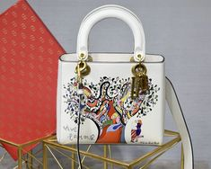 2018 Dior Lady Dior Bag in off-white calfskin with textured Niki de Saint Phalle print Dior Handbags, Dior Bags, Fake Designer Bags, Designer Handbags, Lady Dior Mini, Christian Dior, Soccer Boots, Bags 2018, Luxury Bags