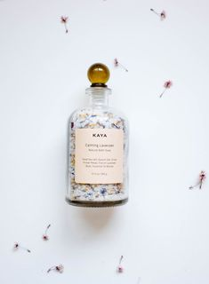 Floral bath soak - Lavender Bath Salts Dead Sea Salts Floral Bath Soak Detox Spa and Relaxation Apothecary Bo – Floral bath soak Detox Bath Soak, Detox Spa, Bath Soaks, Lavender Bath Salts, Lavender Buds, Essential Oil Combinations, Essential Oil Blends, Apothecary Bottles, Perfume Bottles