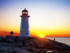 Peggy's Cove #Lighthouse - Located in Peggy's Cove on the Eastern Shore of St. Margarets Bay in Nova Scotia's Halifax Regional Municipality. #photography #travel