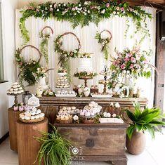 Wedding food diy receptions bridal shower Ideas for 2019 Diy Wedding Food, Wedding Themes, Wedding Table, Rustic Wedding, Wedding Sweets, Boho Baby Shower, Bridal Shower, Wedding Centerpieces, Wedding Decorations