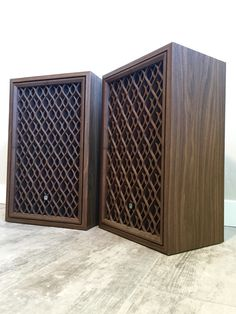 Vintage Pioneer Model CS-301 Speakers with Wood Lattice Grills