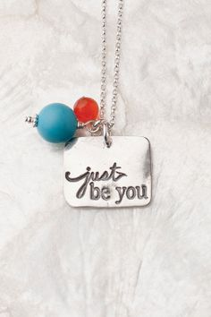 Just Be You, Just Be You Necklace, Graduation Gifts, Encouragement Necklace, Gifts for Grads, Bridesmaid Gifts