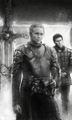 brienne & podrick - paul shipper Brienne Of Tarth, Game Of Thrones Books, Kings Game, Iron Throne, Cinema, Fire And Ice, Winter Is Coming, Game Art, Fantasy Art