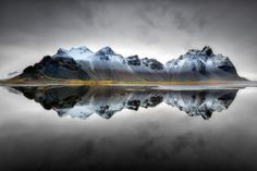 Vesturhorn Reflection - Vesturhorn, Iceland. Minutes before a winter storm whited out the entire scene.
