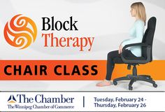 Fluid Isometrics is proud to present The Block Therapy Chair Class at The Winnipeg Chamber of Commerce, Tuesday, February 24 - Thursday February 26 Chamber Of Commerce, Therapy, Chair, Thursday, February, Recliner, Counseling, Chairs