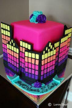 City skyline cake by The Baking Sheet!!