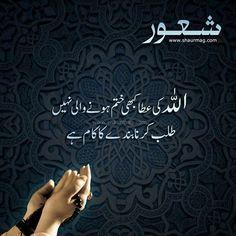 Allah ki Atta kabhi khatm hone wali nahi talab karna bande ka kaam hai