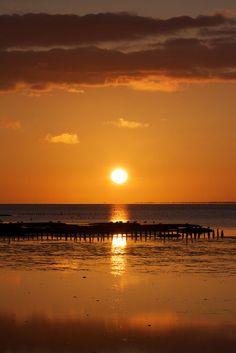 'Sonnenuntergang+am+Meer'+von+Michaela+Rau+bei+artflakes.com+als+Poster+oder+Kunstdruck+$16.63