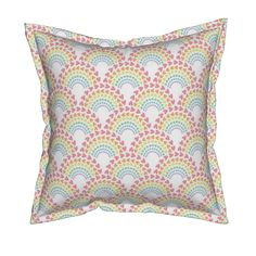 Serama Throw Pillow featuring Rainbow Love by robyriker