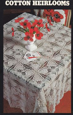 Tablecloth Crochet Patterns - Cotton Heirlooms - Tablecloths and Bedspreads - Pineapple Tablecloth -
