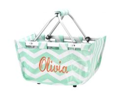Monogrammed Mini Market Tote  Easter by embellishboutiquellc