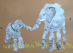Cute Art Idea For Parent And Child