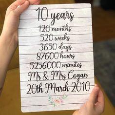 Business Anniversary Ideas, Company Anniversary, 10th Wedding Anniversary Gift, 10 Year Anniversary Gift, Work Anniversary, Unique Anniversary Gifts, Gift Wedding, Anniversary Photos, Thing 1