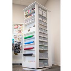 The Studio Tower Sewing Room Organization, Craft Room Storage, Craft Rooms, Organization Ideas, Locker Storage, Hobby Box, Craft Storage Ideas For Small Spaces, Craft Room Design, Home Design