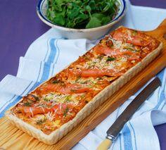 Lemon & Vanilla: Tarte de salmão fumado, alho francês e queijo Jarlsberg