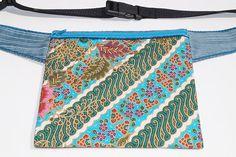 Batik flower bag hip bag waist bag belt bagfanny