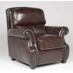 NH3173G-HLRCANTQRC Antique 41  Tobacco Leather-Match Recliner