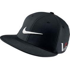 NIKE 2013 FLAT BRIM / BILL TOUR GOLF HAT BLACK/BLACK 20XI VRS CAP
