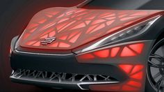 3D printed EDAG light cocoon sports car illuminated from inside - detail