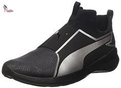 Puma Rebel Mid Wns Summer, Sneakers Basses Femme, Noir (Puma Black-Puma Silver 01), 36 EU - Chaussures puma (*Partner-Link)