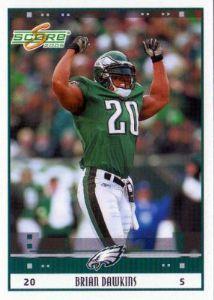 PHILADELPHIA EAGLES - Brian Dawkins 212 Glossy SCORE 2005 NFL American  Football Trading Card ee33398d7