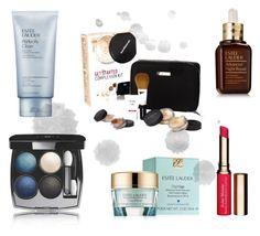 """""""Cosmetics"""" by fivepcncpt on Polyvore featuring Schönheit, Estée Lauder, Bare Escentuals, Chanel und Clarins"""