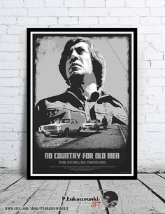 NO COUNTRY for old MEN - alternative movie poster / print [ Tommy Lee Jones Josh…