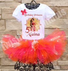 Elena of Avalor Birthday Tutu Outfit | Twistin Twirlin Tutus