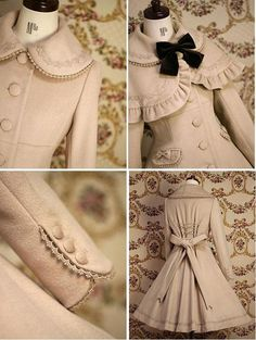 dollhouse miniature coat-I don't even own something this nice, but would be so cute in human size!