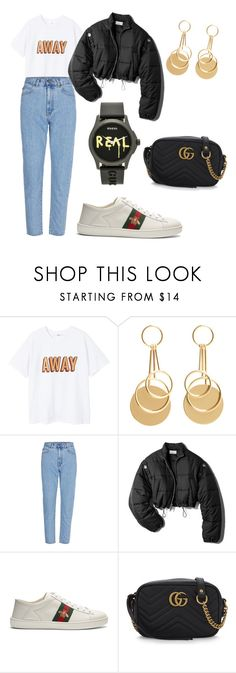 """""""Who loves Gucci?"""" by mariya-fin ❤ liked on Polyvore featuring MANGO, 3.1 Phillip Lim and Gucci"""
