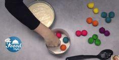 Rainbow Polka Dot Cake - Surprise Inside Sprinkle Cakes