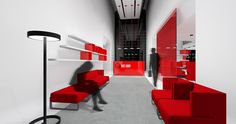 🔺Red Cube🔻   X #PorcelanosaAwards FINALISTS A biomorphic modular office in Forward-Looking #Projects-Professionals #architecture #interiordesign