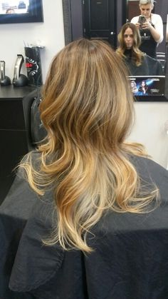 Hair By: Lisa A beautiful golden beige balayage