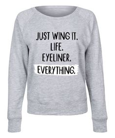 Athletic Heather 'Just Wing It' Slouchy Pullover