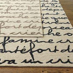 Le Poeme Indoor/Outdoor Rug. La cigale et la fourmi. Ballard Designs.