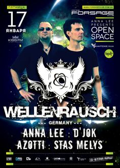 Wellenrausch party poster design