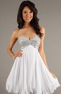 Cute Sweetheart Chiffon Baby doll Natural Sleeveless Prom Dresses Sale momodresses27628