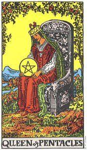 Queen of Pentacles Tarot Card - Rider Waite Deck