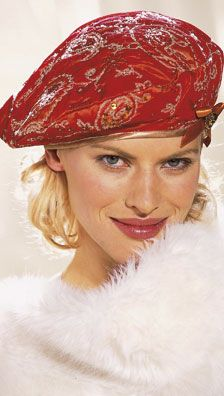 Free Beret Hat Pattern Burda Fashion French Site. Must register to be able to download patterns (use google translate).