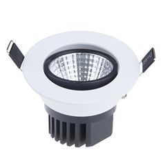 Lemonbest Dimmable 5W COB LED Ceiling Light Downlight Cool White Spotlight Lamp Recessed Lighting Fixture ** Learn more by visiting the image link.